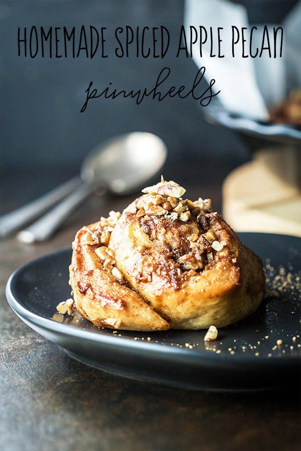 homemade spiced apple pecan pinwheels