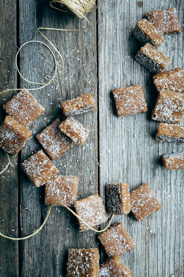 My Nana's Sweet Caramel Kisses recipe is a raw, vegan version of the original caramel kiss. Chewy, fudge caramel squares sprinkled with coconut.