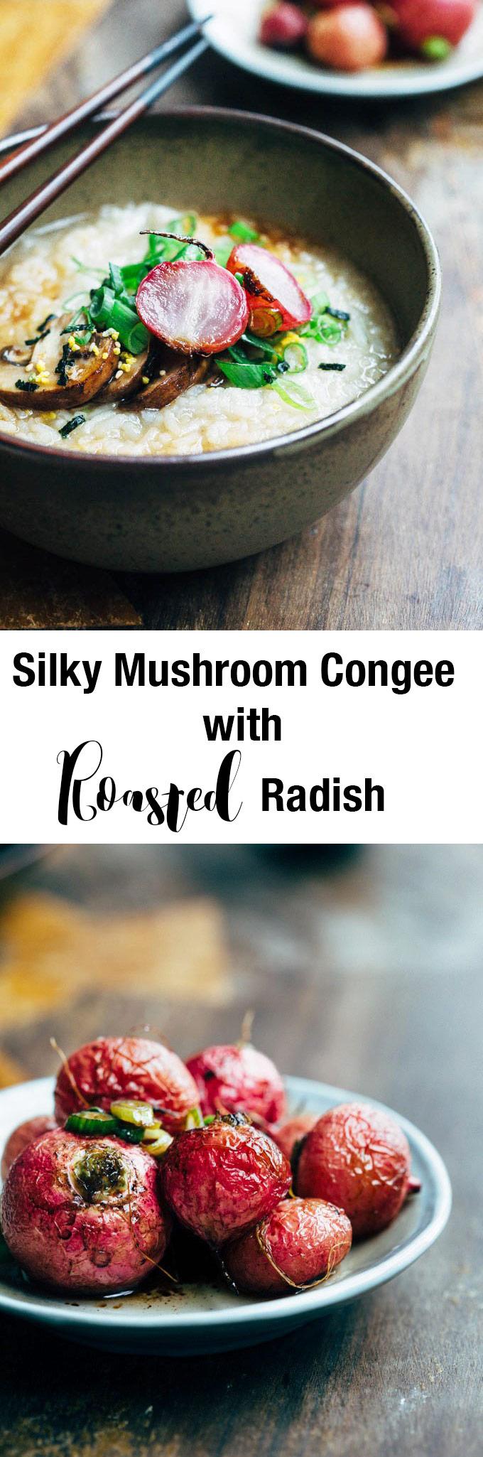 silky-mushroom-congee-with-roast-radish-pin
