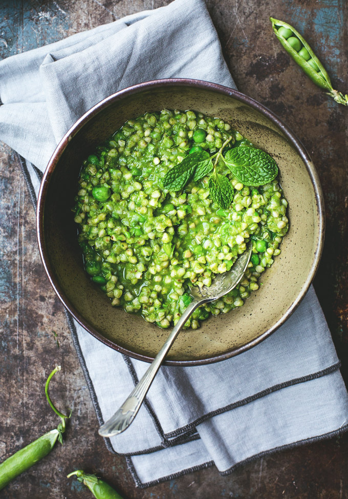 green pea buckwheat risotto 1