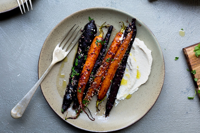 Whether serving as a side or the main event, these red miso maple roasted carrots are dressed for success and mass consumption.