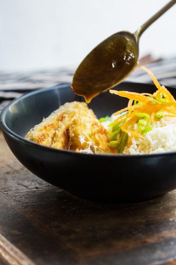 crispy tofu Japanese curry 3