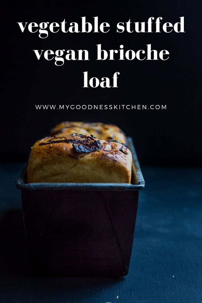 Filled with your favourite vegetables, this vegetable stuffed vegan brioche loaf is a gorgeous buttery loaf perfectly made to impress | my goodness kitchen