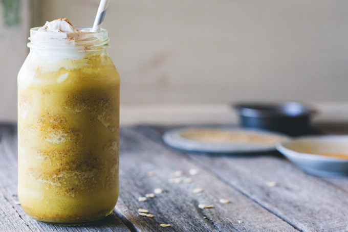 With the healthful benefits of turmeric and ginger, this Iced Spiced Turmeric Latte is an icy glass of delicious goodness.