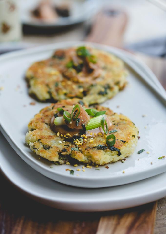 Japanese inspired vegetable potato cakes 6