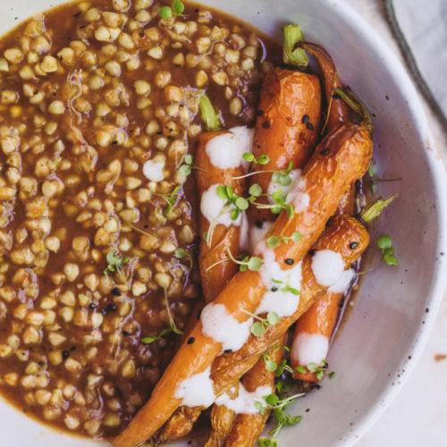 smoky eggplant buckwheat bowl 8