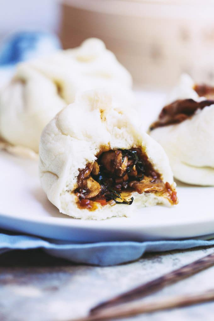 These Sneaky BBQ Mushroom Steamed Buns boast the sweet smoky flavours of the traditional char siu steamed buns but are vegan with no less than 5 vegetables.
