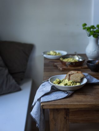 Inspired Scrambled Tofu & Lazy Sunday Mornings