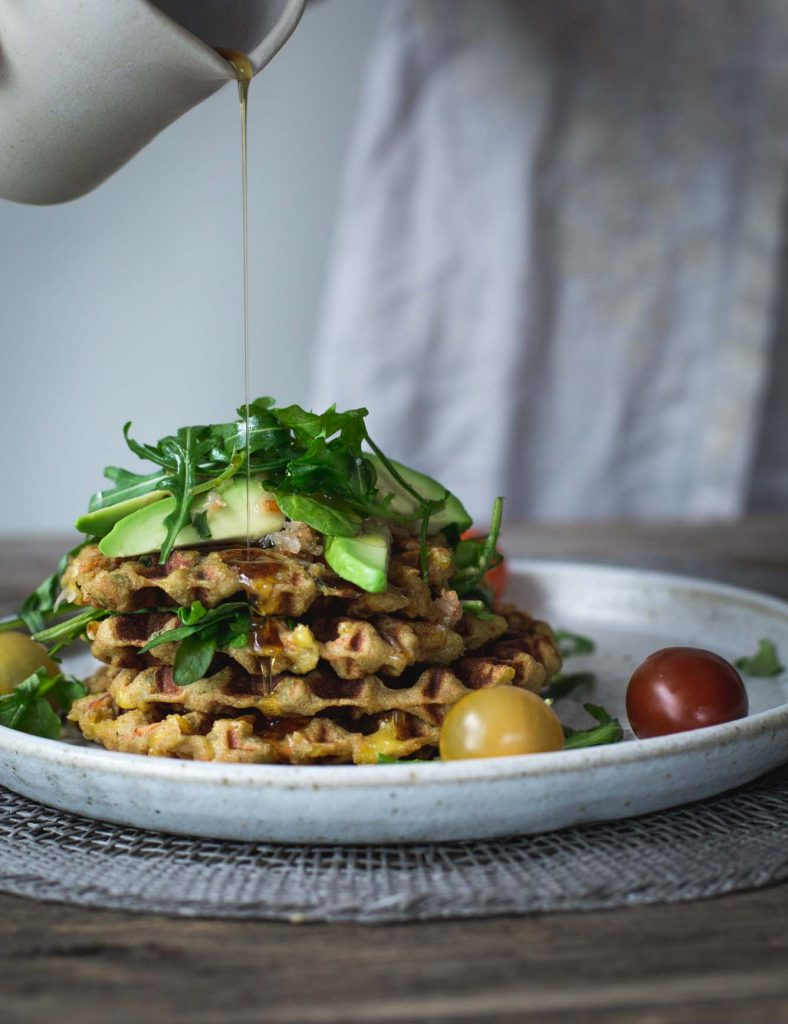 With creamy mashed potato, mixed vegetables and spices, these Sneaky Mashed Potato Cheese Waffles are crispy, cheesy and just a little bit moorish. V and GF