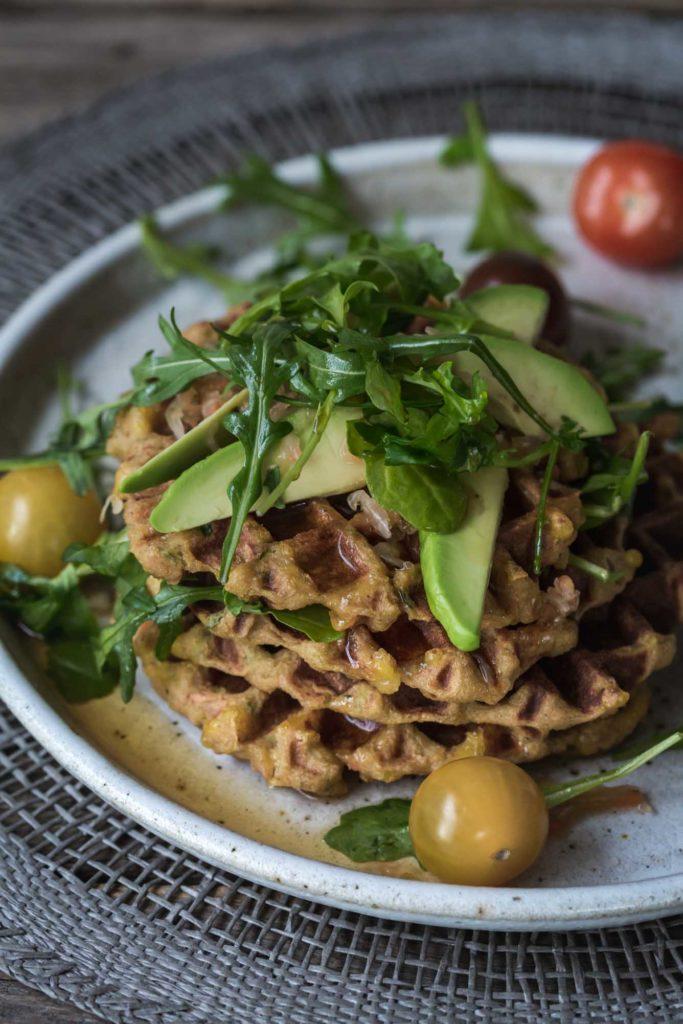 Sneaky Mashed Potato Cheese Waffles (GF)
