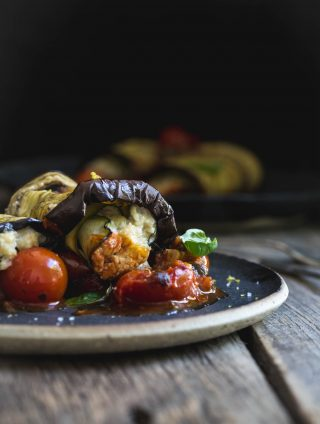 Vegan Eggplant Involtini with Sweet Onion Ricotta (GF)