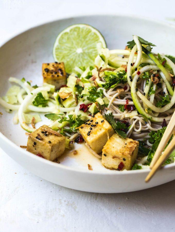 Crispy Tofu Lemongrass Bowl