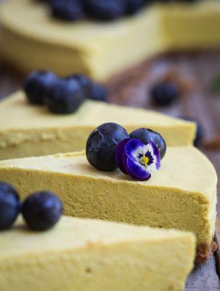 Golden Milk Cashew Cheesecake