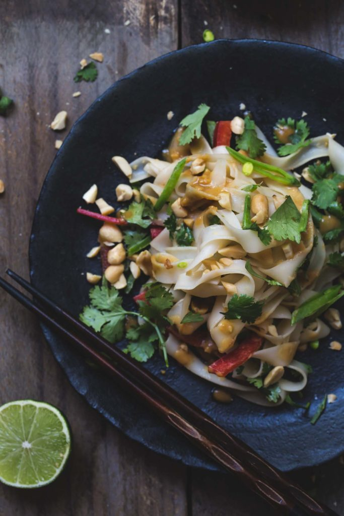 Sam Turnbull's 15-Minute Peanut Noodles are ready in under twenty and full of fresh and full-bodied flavours. #fussfreevegan