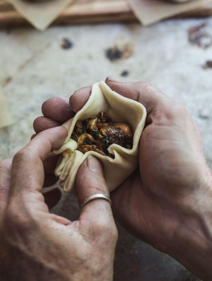 Sneaky BBQ Mushroom Steamed Buns