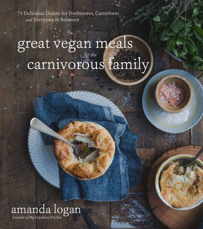 Cover image of vegan cookbook Great Vegan Meals for the Carnivorous Family